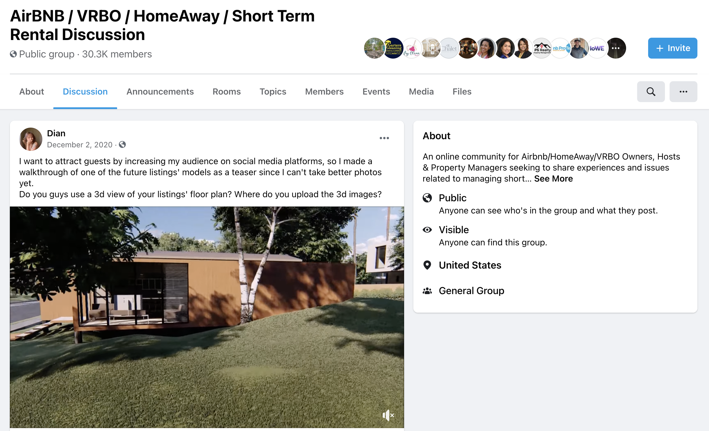 screenshot of an airbnb host group on facebook, where hosts share tips and advice with each other
