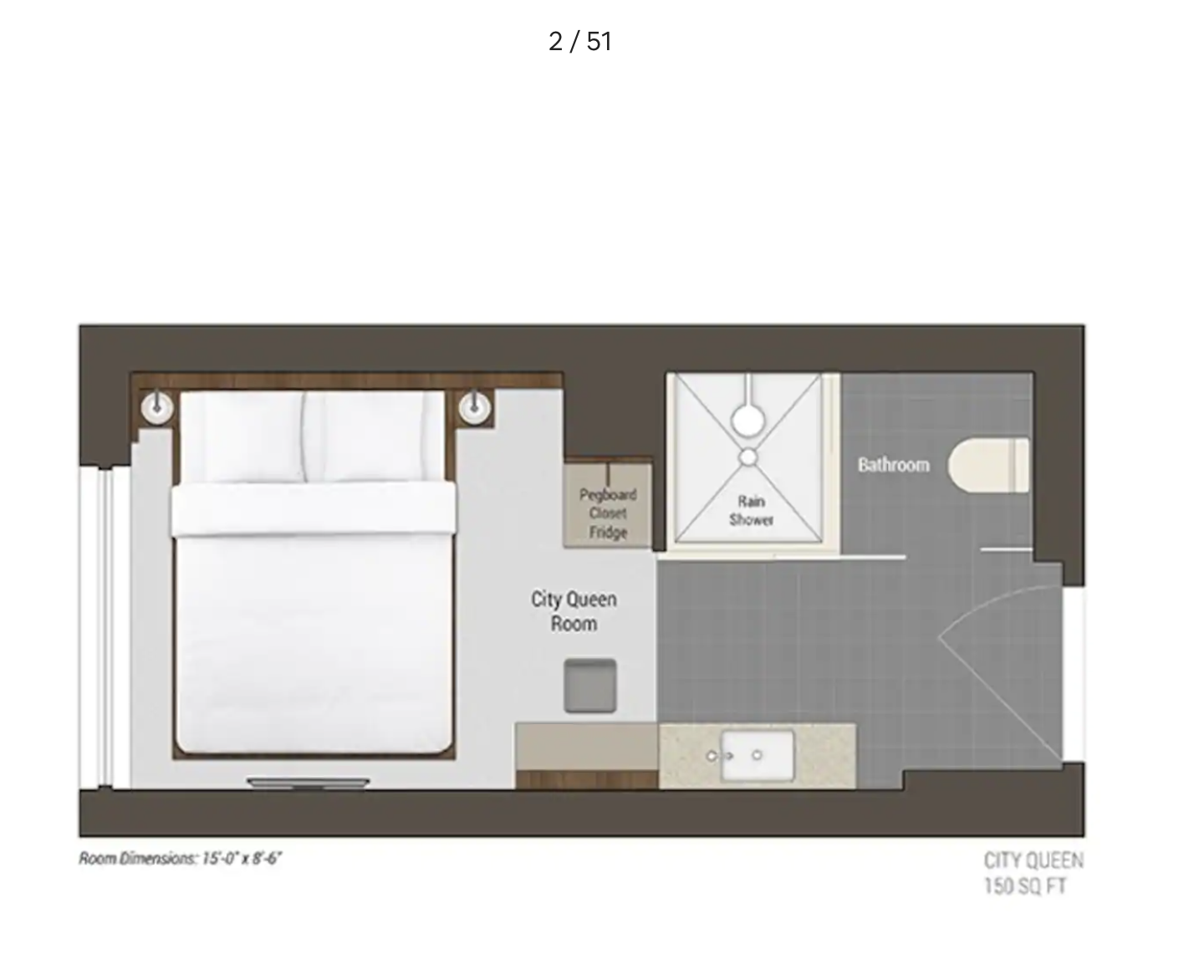 a floor plan for a small 1 bedroom apartment